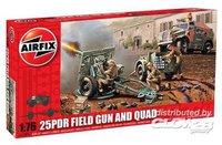 Airfix 25PDR Field Gun & Morris Quad Series 1 (01305)