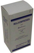 Kerma Mullkompressen Bw 10 x 20 cm 12-Fach Steril (25 x 2 Stk.)