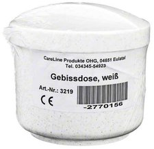 CareLine Gebissdose Weiss Mit Einsatz U.Deckel (1 Stk.)