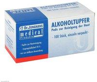 Dr. JUNGHANS Alkoholtupfer 3 x 6 cm Steril 100 Stk.