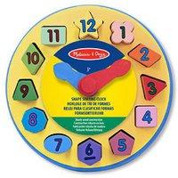 Melissa & Doug Wooden Shape Sorting Clock (englisch)
