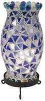 Näve 325105 Tischleuchte Mosaik Höhe 27cm blau