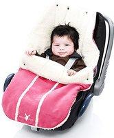 Wallaboo Fußsack für Babyschale pink