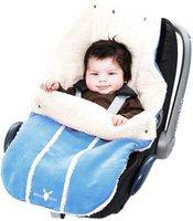 Wallaboo Fußsack für Babyschale blau