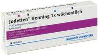 Sanofi-aventis Jodetten Henning 1x Wöchentlich Tabletten (14 Stk.)