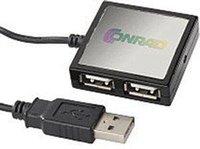 Conrad 4 PORT USB 2.0 HUB MIT KABEL