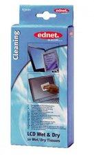 Ednet 63021 LCD Screen Cleaner 10 Wet & Dry
