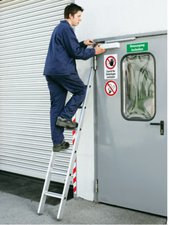 Zarges Z500 gebördelte 12 Stufen-Anlegeleiter (41572)