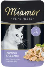 Miamor Feine Filets Thunfisch & Calamari (100 g Portionsbeutel)