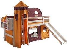 Dolphin Furniture Etagenbett 180cm Fantasy mit grader Leiter