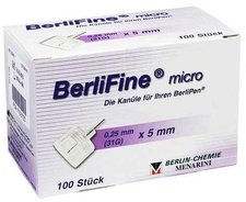 Berlin-Chemie Berlifine Micro Kanülen 0,25 x 5 mm (100 Stk.)