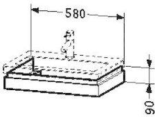 Duravit 2nd Floor Waschtischblende 6406