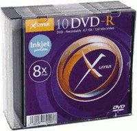 Xlayer DVD-R 4,7GB 120min 16x bedruckbar 25er Spindel