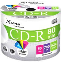 Xlayer CD-R 700MB 80min 52x bedruckbar 50er Spindel