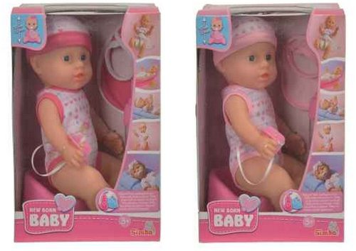 Simba New Born Baby Puppe mit Zubehör (105037800)