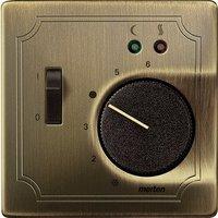 Merten Zentralplatte für Fußbodentemperaturregler-Einsatz mit Schalter (537543)