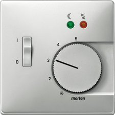 Merten Zentralplatte für Fußbodentemperaturregler-Einsatz mit Schalter (537546)