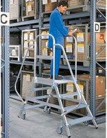 Steigtechnik Aluminium-Podestleiter 3 Stufen (52203)