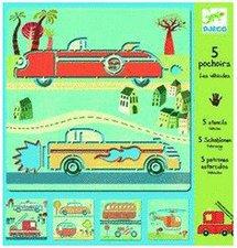 Djeco 5 Schablonen Fahrzeuge (08855)