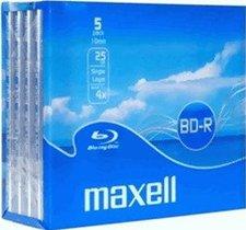 Maxell BD-R 25GB Single Layer 1-4x Jewelcase (5)