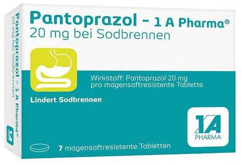 1A Pharma Pantoprazol 20 mg b. Sodbrennen magensaftr.Tbl. (7 Stk.)