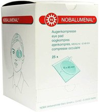 NOBA Nobalumenal Augenkompr.75 x 80 mm Steril (25 Stk.)