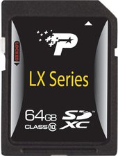 Patriot SDXC Card LXserie 64 GB Class 10