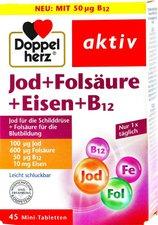 Doppelherz Jod + Folsäure + Eisen Tabletten (45 Stk.)