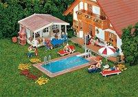 Faller Swimming-Pool und Gartenhaus (180542)
