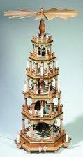 KWO Olbernhau 6-stöckige Pyramide Paradies (106 cm)