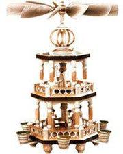 Müller Kleinkunst 2-stöckige Weihnachtspyramide Heilige Geschichte (42 cm)