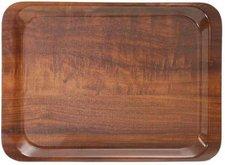 Contacto Serviertablett Nussbaum-Dekor 44x32 cm rutschfest
