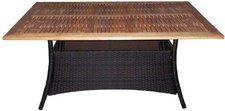 Brema Boulevardtisch 150 x 90 cm H: 75 mit Teakholzplatte