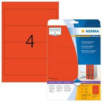 Herma SuperPrint Ordnerrückenetiketten 192x61 mm, rot (5097)