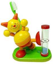Hess Spielzeug Zahnputzuhr Katze