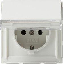 Gira SCHUKO-Steckdose mit Klappdeckel und Beschriftungsfeld (041066)