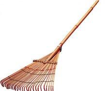 UNIMET Laubbesen Bambus mit Stiel (625495)