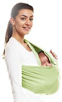 Wallaboo Babytrage Sling Baumwolle green