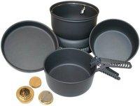 10T Outdoor Equipment 7er Alu Topf Set inkl. Brenner
