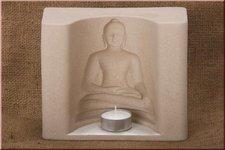 Kerzenfarm Teelichthalter Relief Buddha