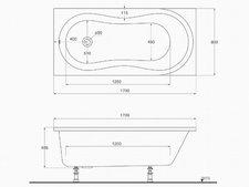 Ideal Standard Aqua Combi Badewanne 170 x 80 cm (K6219)