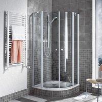 Kermi Ibiza 2000 Viertelkreis-Duschkabine 90x90x185 R:55 KermiClean