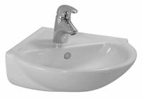 Laufen Pro C Eck-Handwaschbecken 49,5 x 50 cm (mit Hahnloch, mit Überlauf, 816956)