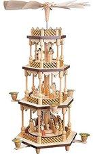 Richard Glässer 3- stöckige Pyramide Christi Geburt (54 cm)
