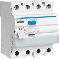 Hager FI-Schutzschalter 4P 40A 30mA (CDA440D)