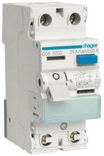 Hager FI-Schutzschalter 2P 25A 30mA (CDS225D)