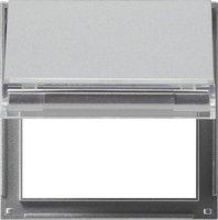 Gira Zwischenplatte mit Klappdeckel und Beschriftungsfeld (068065)