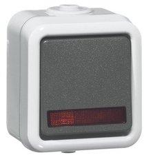 Peha Wippschalter mit Kontrolllicht mit Steckklemmen (626 WAB GLK)