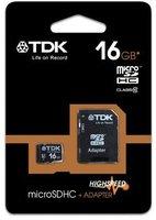 TDK microSDHC Card 16GB Class 10 ADP