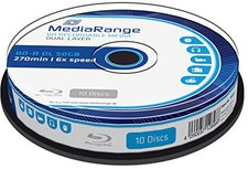 MediaRange BD-R 50Gb 270min DL 6x 10er Spindel